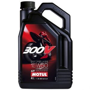 MOTUL 300V 4T Factory Line Road Racing 15W50 Motor Oil 5 Litre