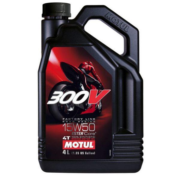MOTUL 300V 4T Factory Line Road Racing 15W50 Motor Oil 5 Litre